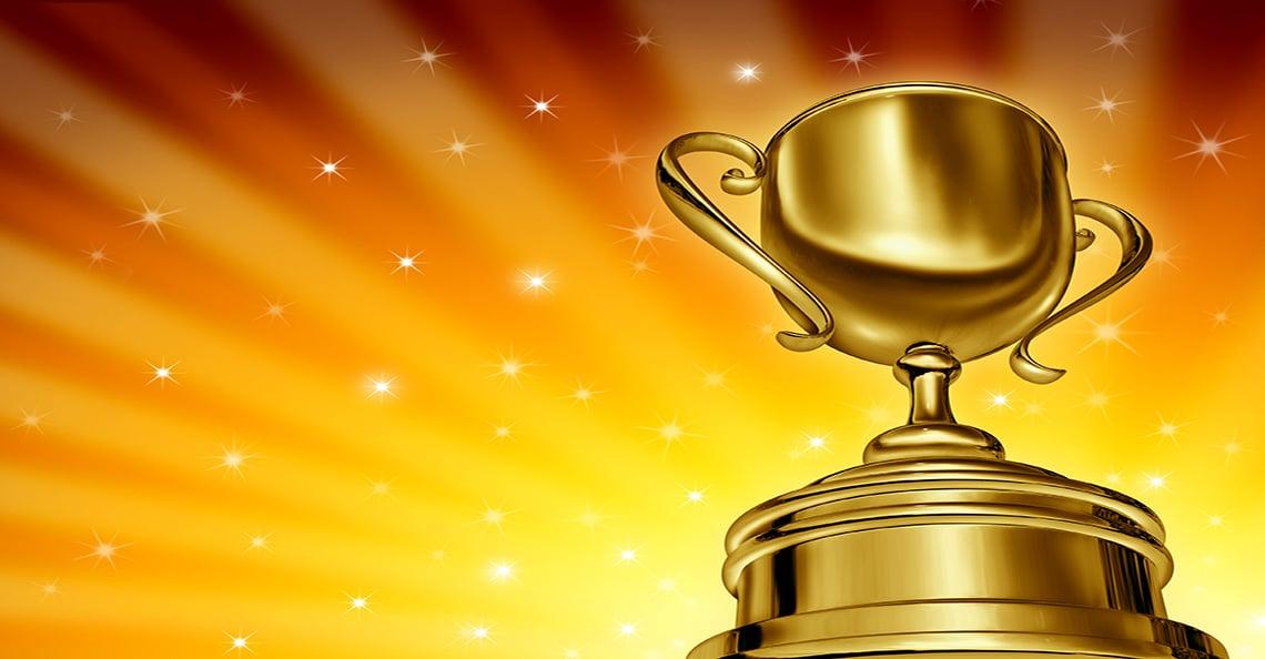 Golden trophy award