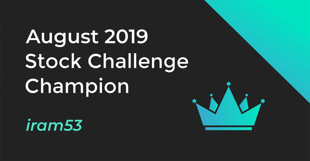 August 2019 Stock Challenge Champion Illustration Featuring Iram53