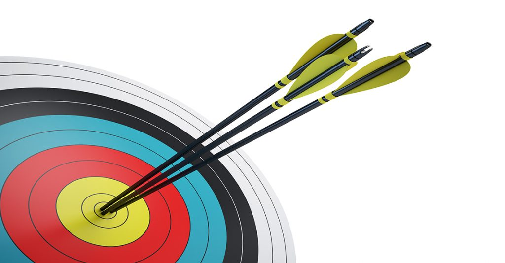 arrows in the bullseye of the target