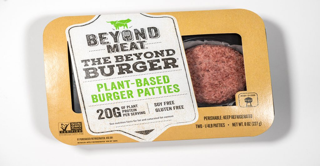 Beyond Meat burger packaging