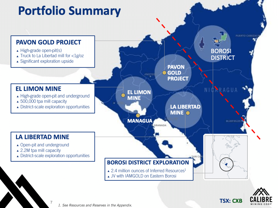 Slide 7 of Calibre Mining's Corporate Presentation