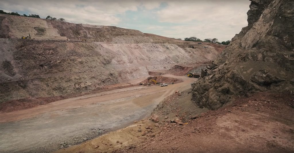 calibre mining open pit mine