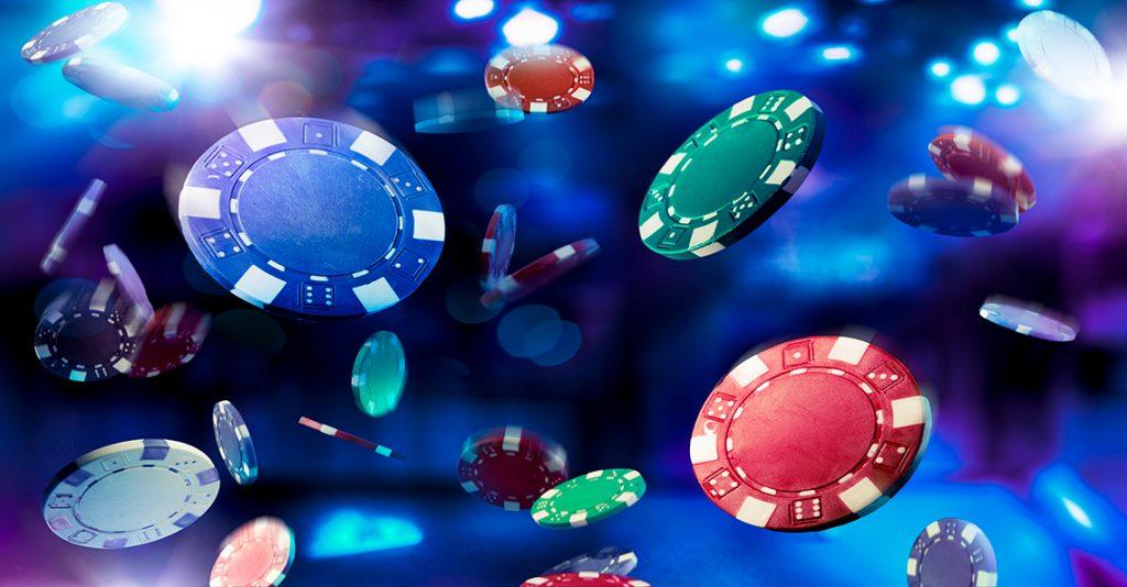 casino chips falling