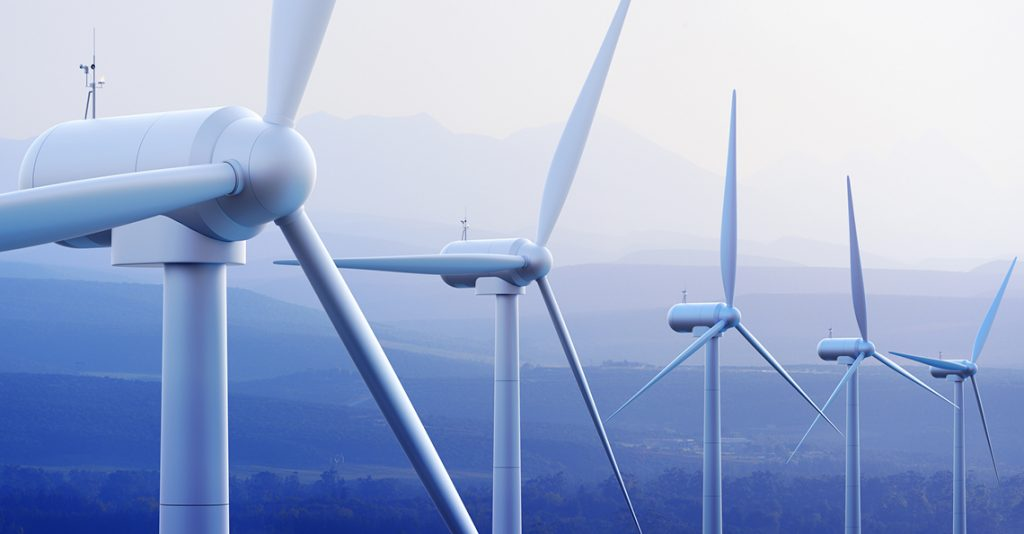 clean energy from wind turbines