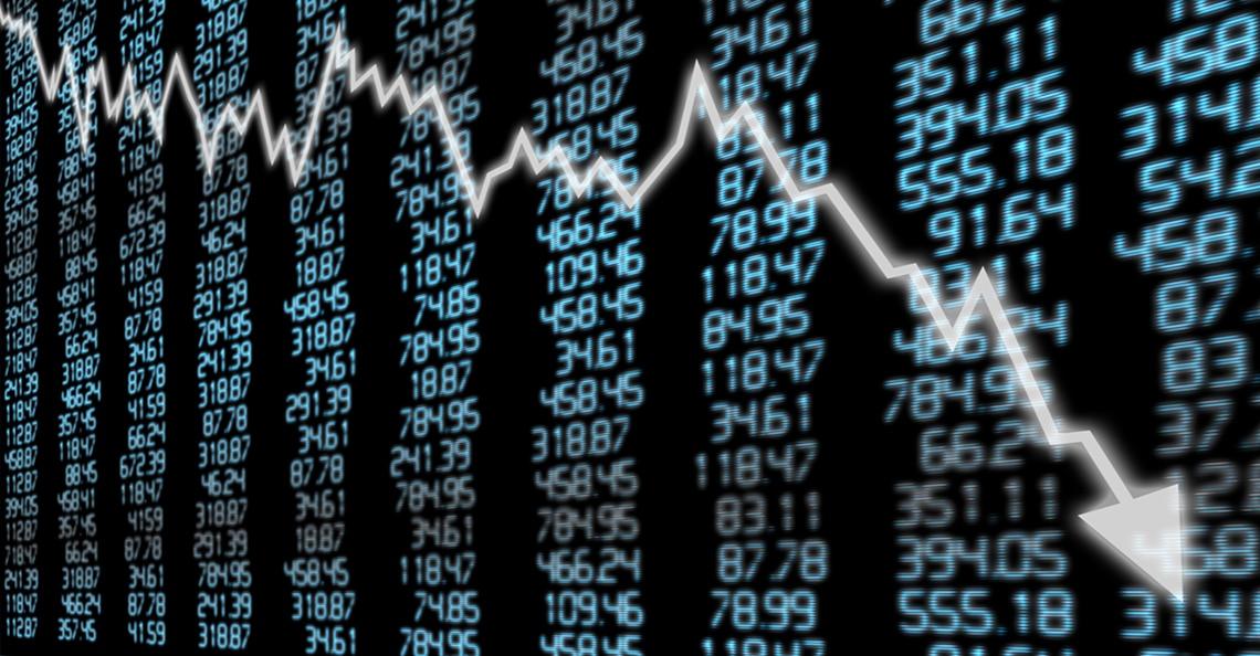 Index chart declining