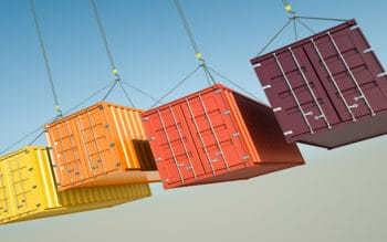 container crates hanging