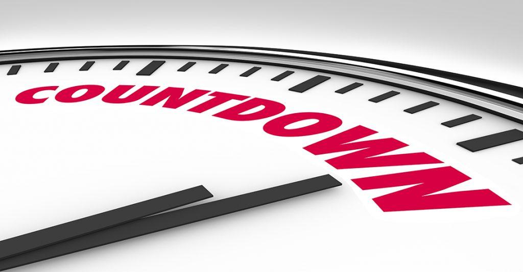 countdown on clock