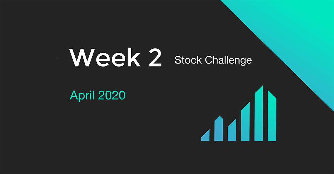Week 2 of the April 2020 Stock Challenge