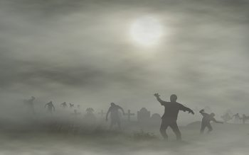 crowd of zombies