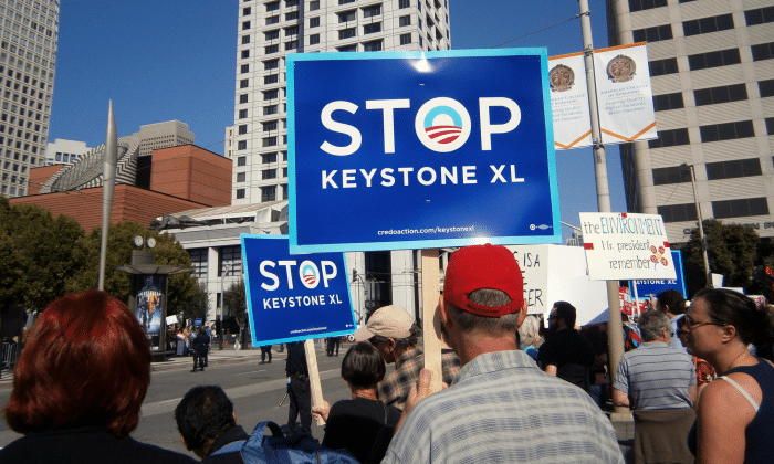 Keystone XL protestors in America