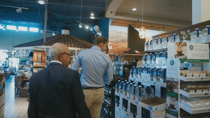 Visiting a Bristol Farms in California with The Alkaline Water Company's National Sales Manager