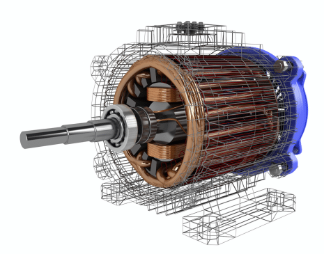 traditional rendering of electric motor