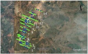 Phase 1 drill hole locations for the Kobada Gold Project
