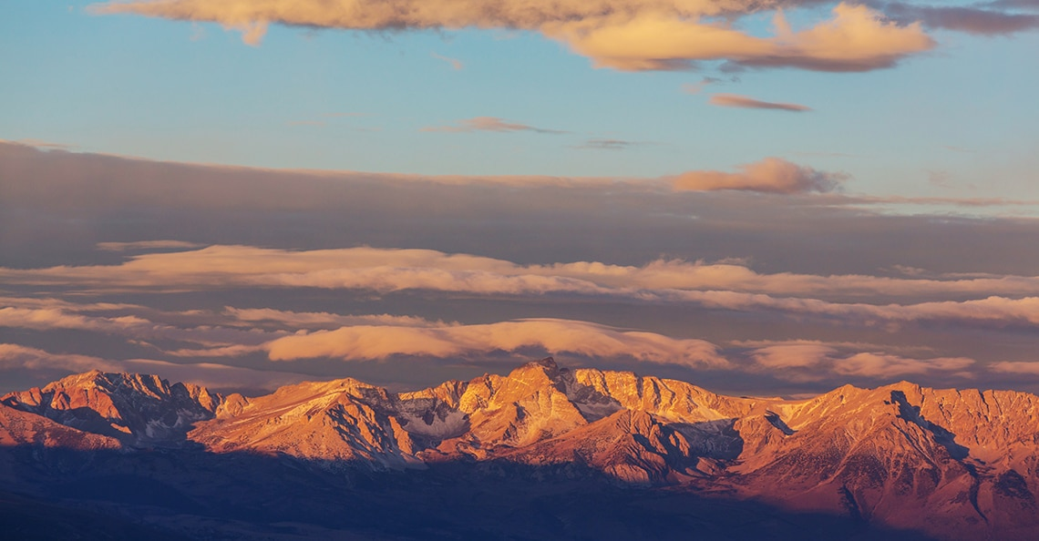 nevada mountains at sunrise