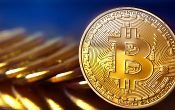 pile of golden bitcoins