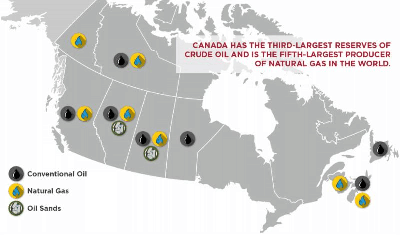 oil and gas reserves in Canada