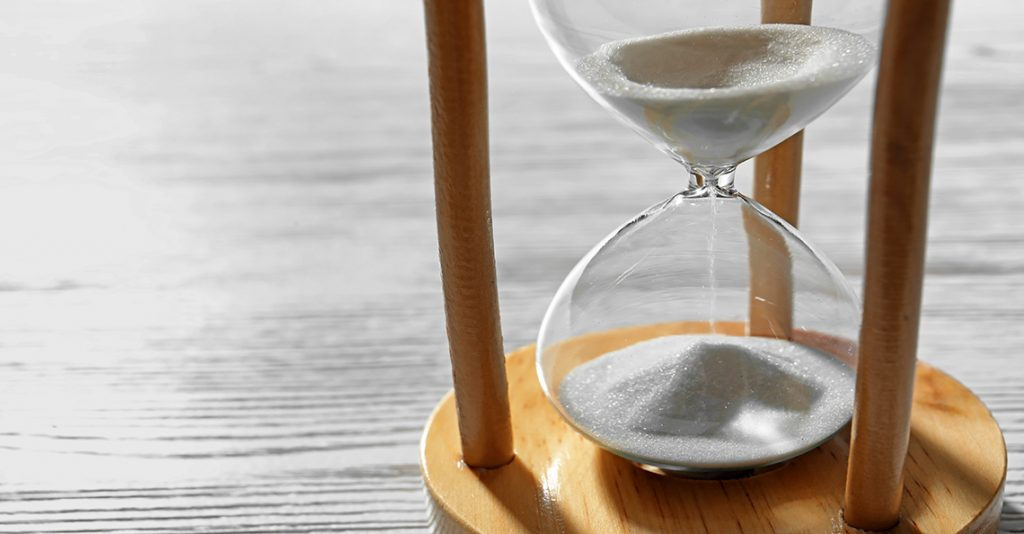 time running out in sand timer
