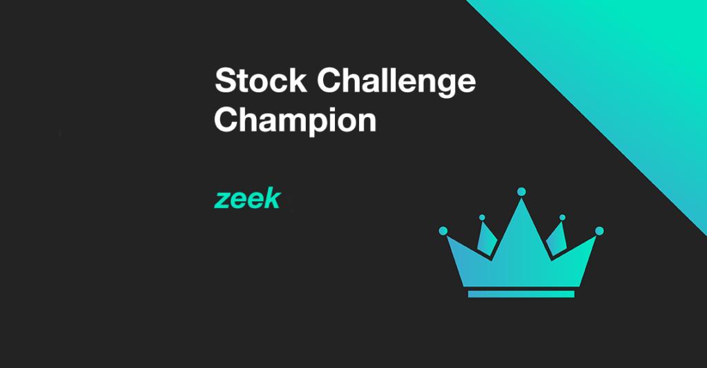 June 2020 Stock Challenge Champion is Zeek