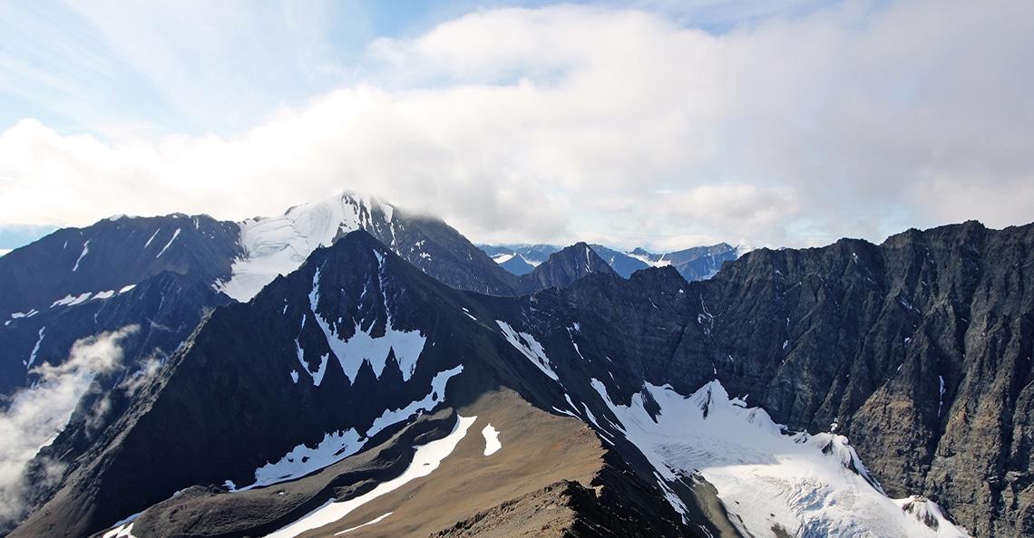 Yukon mountain range