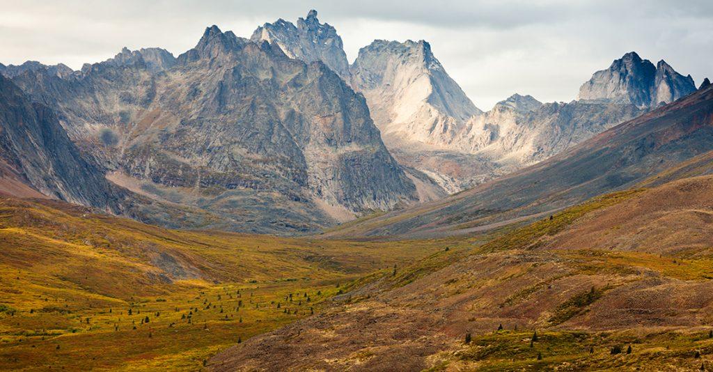 mountain range in canada's yukon territory
