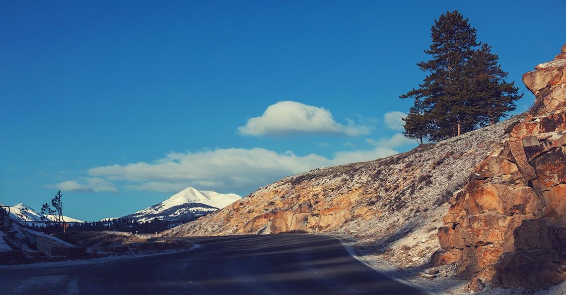 klondike region mountain road
