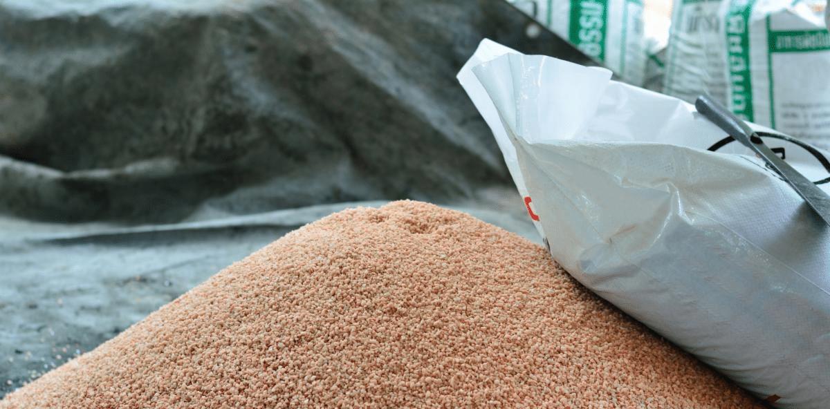 pile of chemical fertilizer