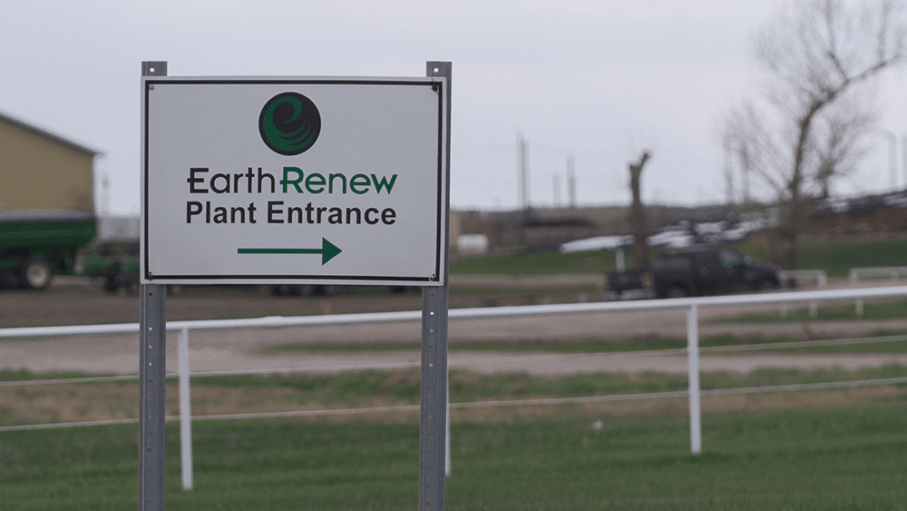 Plant entrance site for EarthRenew's Strathmore Facility
