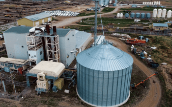 Aerial view of EarthRenew's Strathmore Facility