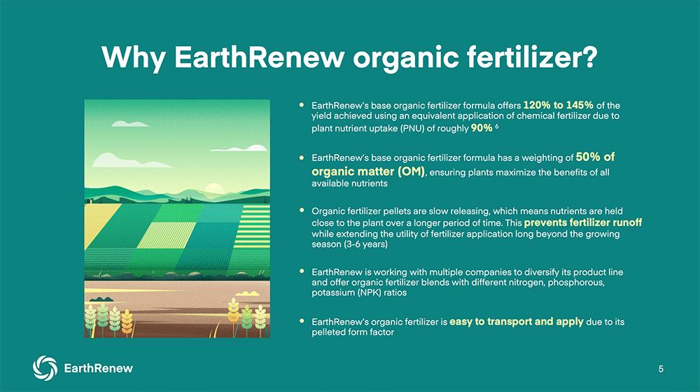 Why use EarthRenew organic fertilizer