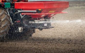 A machine using phosphate fertilizer