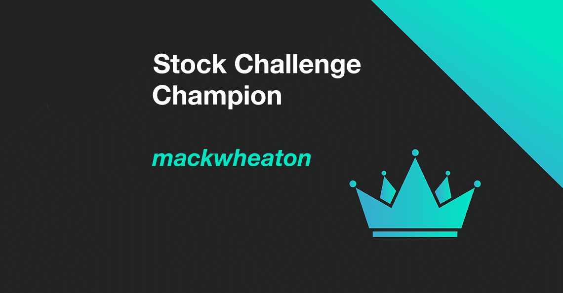 cover photo announcing mackwheaton as the winner of the february 2021 stock challenge