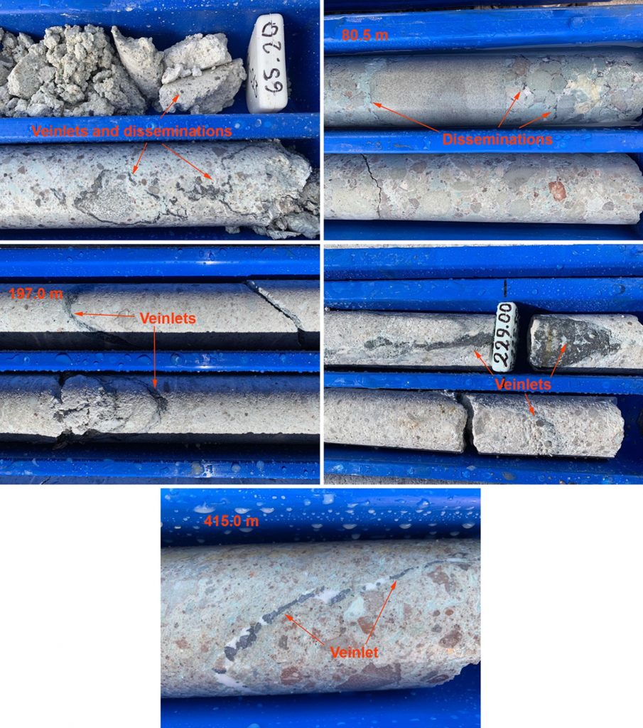 veinlets from Miramont Resource's Cerro Hermoso project