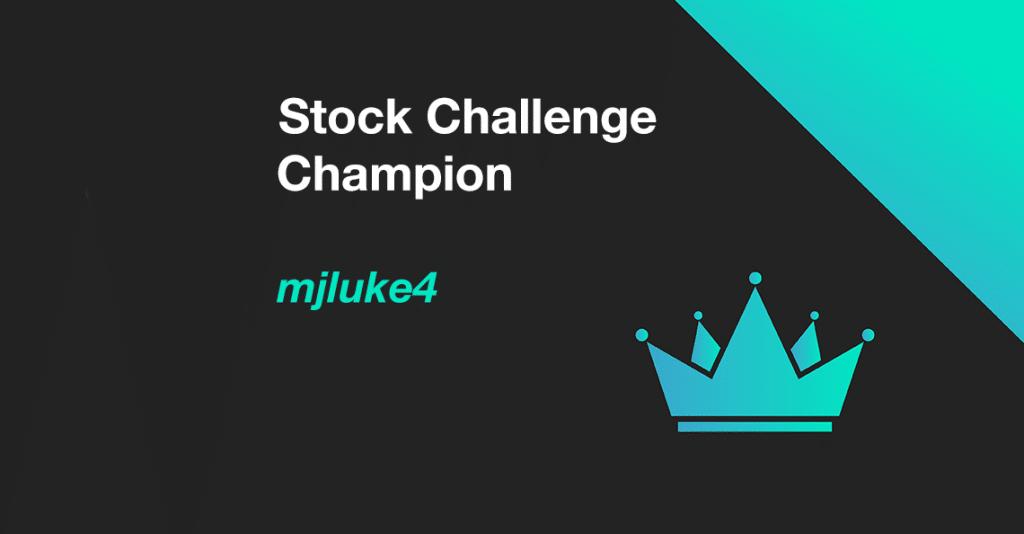 mjluke4 wins november 2020 stock challenge