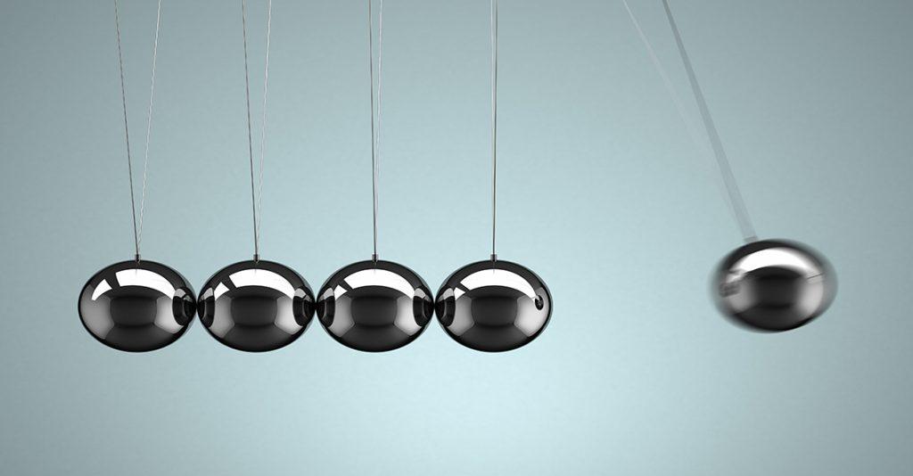 momentum building in metallic balls