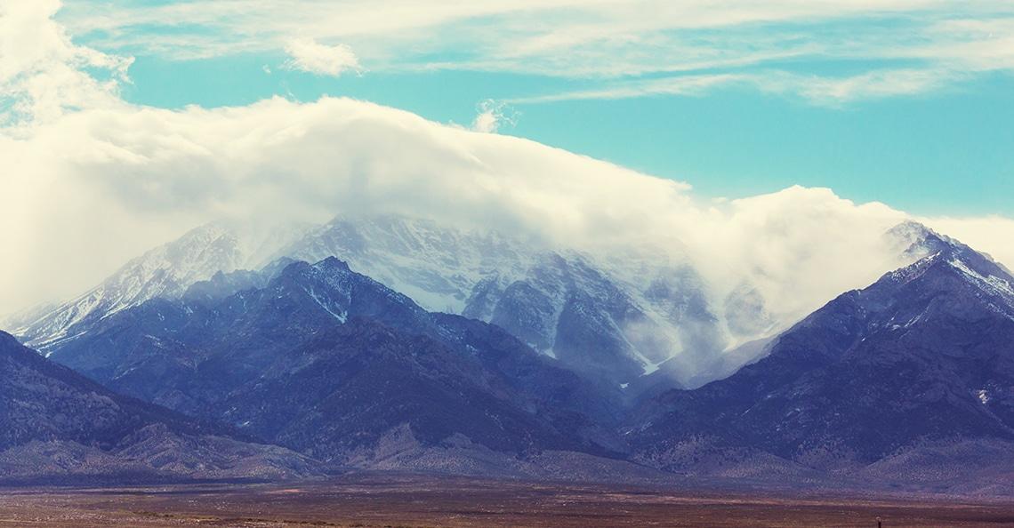 Sierra Mountain range in Nevada