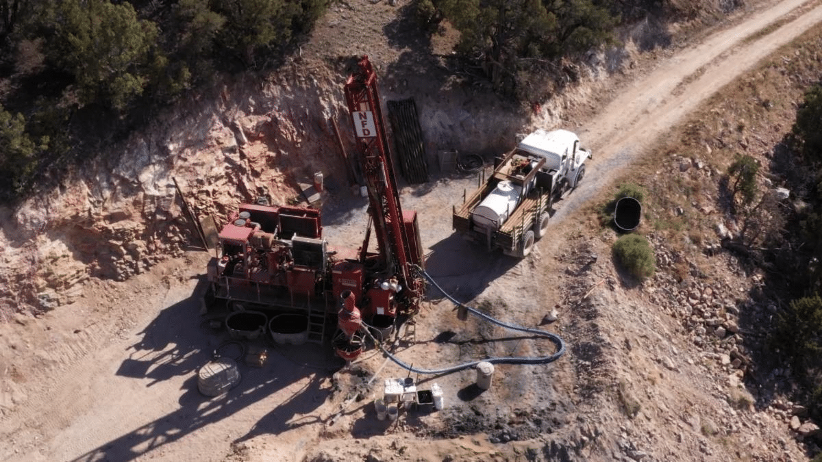 Drilling on-site at Kinsley Mountain