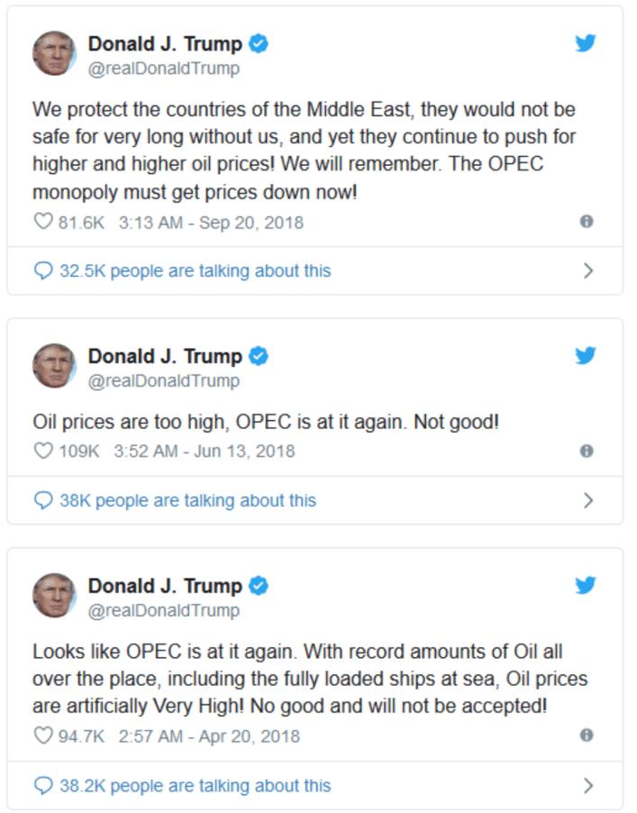 Trump calls out Saudi Arabia on Twitter