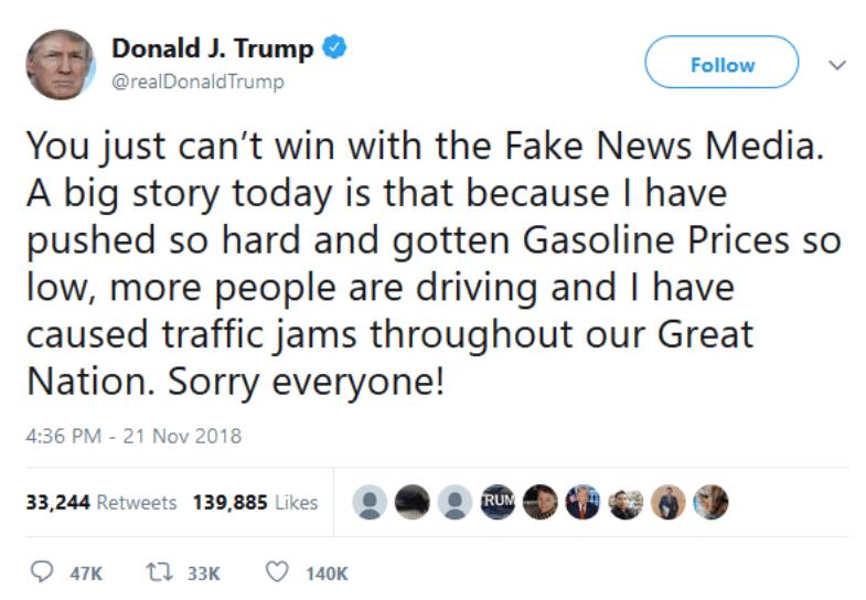 Trump brags on Thanksgiving