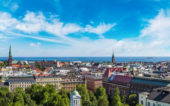 panoramic aerial view of helsinki