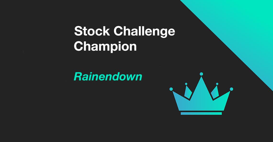 Rainendown wins the July 2020 Stock Challenge