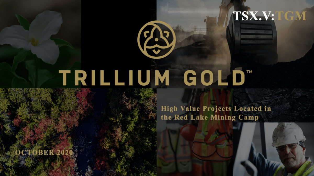 Cover for Trillium Gold's October 2020 corporate presentation