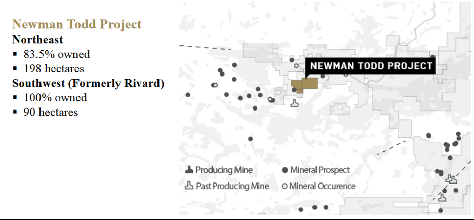 Map of the Newman Todd Project