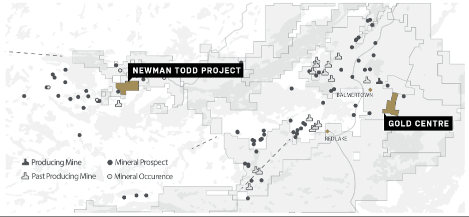 Map of Trillium's Gold Centre project