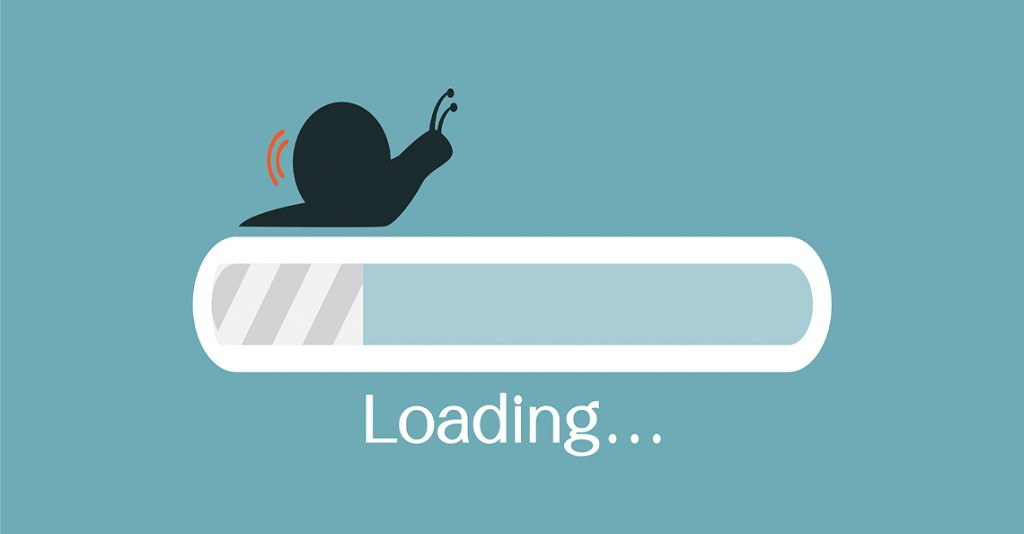 snail progress loading bar