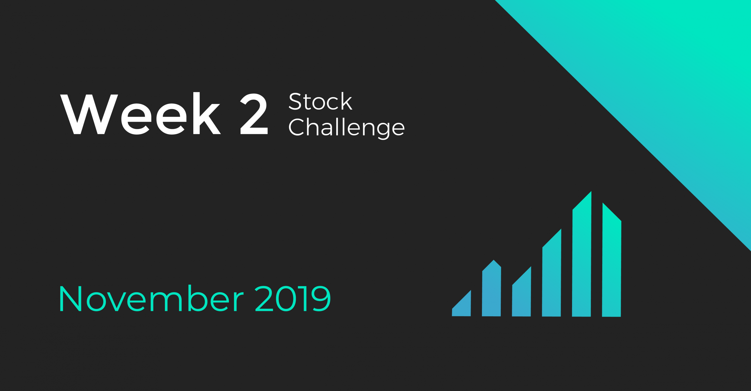 stock challenge cover for the second week of november
