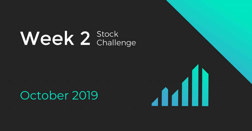 Cover for Week 2 of the October 2019 Stock Challenge