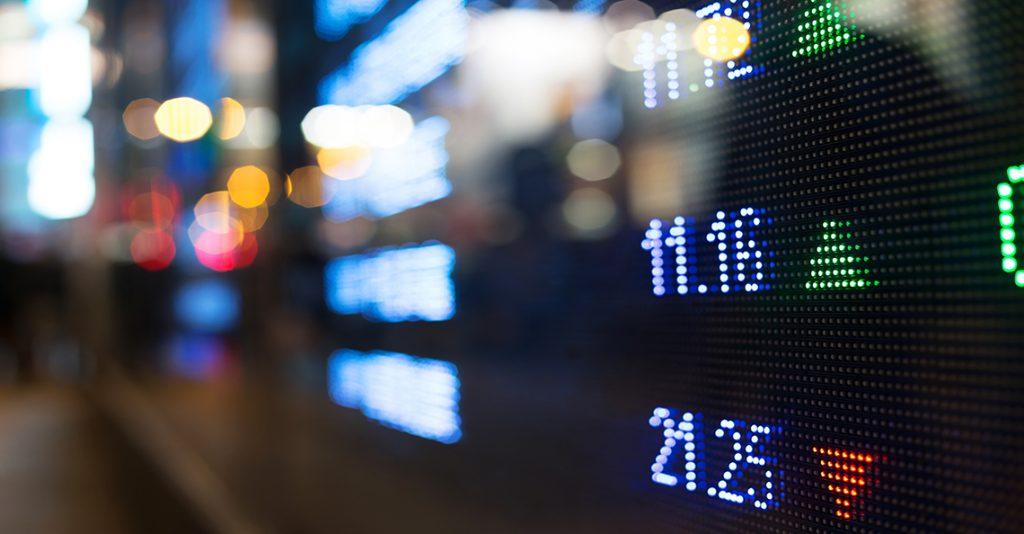 stock exchange screen