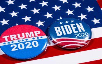 Trump and Biden buttons