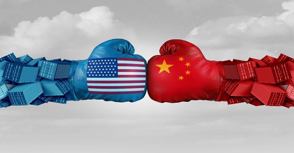 boxing gloves representing u.s.-china trade war