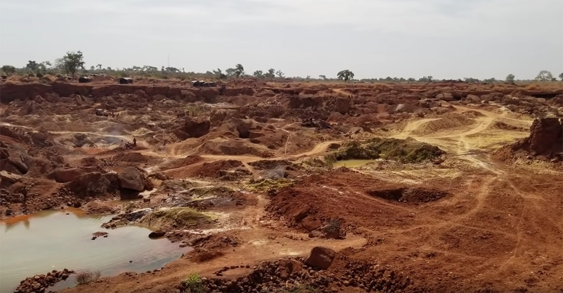 view of african gold group's kobada gold project